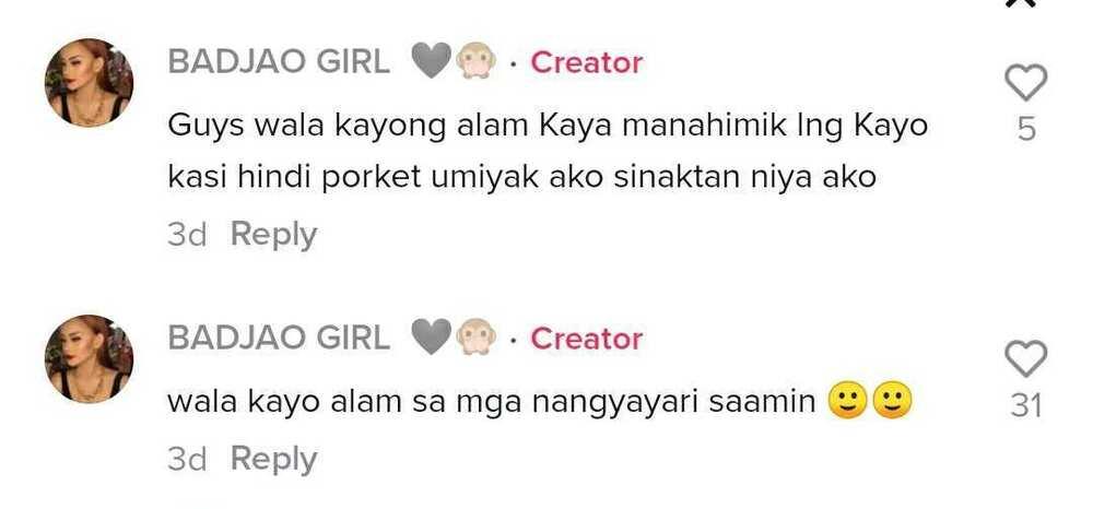 'Badjao Girl' Rita Gaviola, pinagtanggol sa bashers ang lalaking kasama niya sa TitTok videos