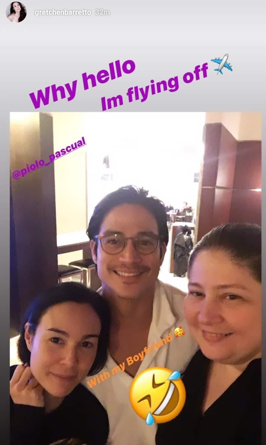 Gretchen Barretto makes fun of sister Marjorie in her post about Piolo Pascual