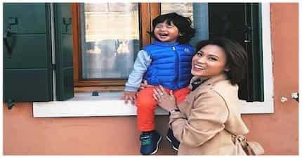 5 Super adorable mother and son pictures nina Toni Gonzaga at Seve sa Europe