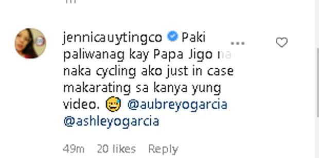 Jennica Garcia, nagpaliwanag sa amang si Jigo Garcia na naka cycling shorts siya habang nagti-Tiktok