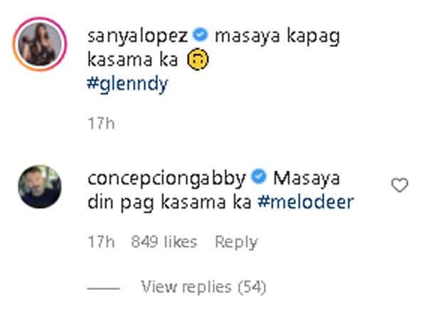 "Sanya Lopez, Gabby Concepcion's ""masaya pag kasama"" exchange on IG goes viral"