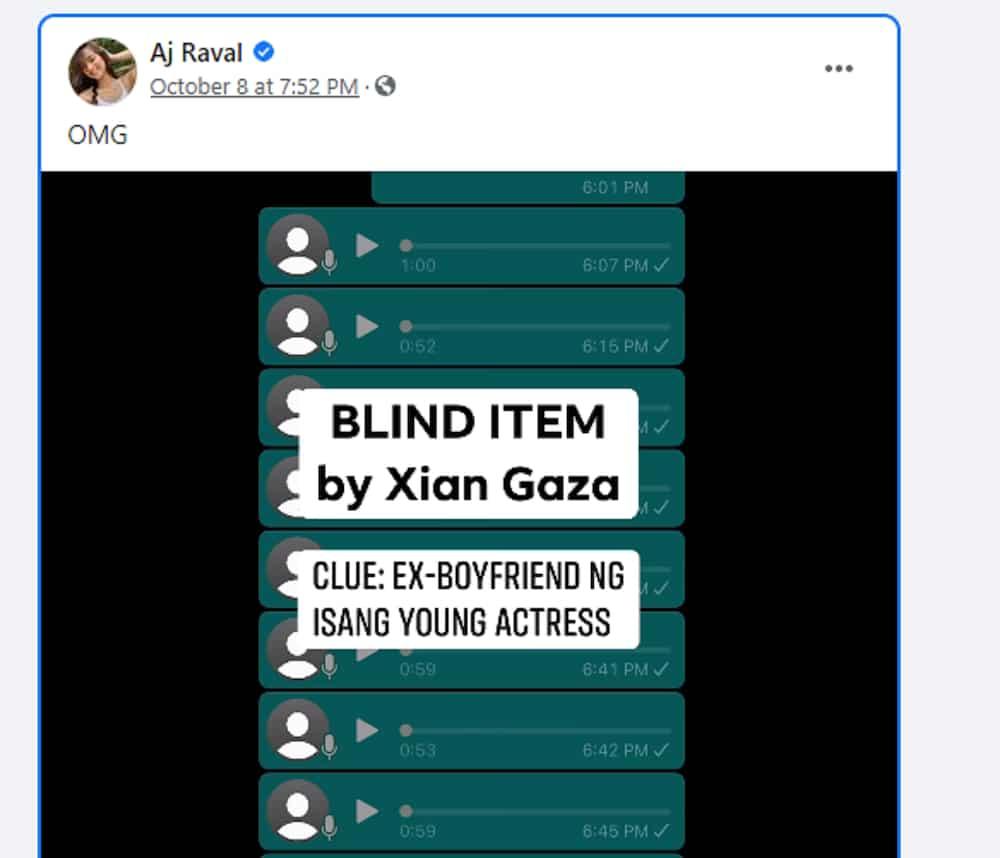 AJ Raval, nag-react at napa 'OMG' sa blind item ni Xian Gaza