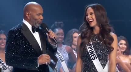 Miss Universe 2018 update: Catriona Gray gets interviewed by Steve Harvey