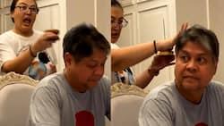 Video of Sharon Cuneta 'cleansing' Sen. Kiko Pangilinan goes viral
