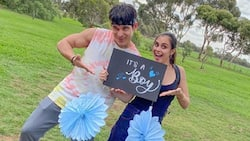 Max Collins has given birth to her baby boy