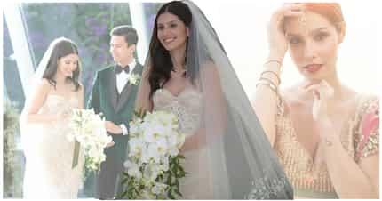 Meet the blushing bride! Kat Ramnani looks gorgeous in Inbal Dror wedding gown
