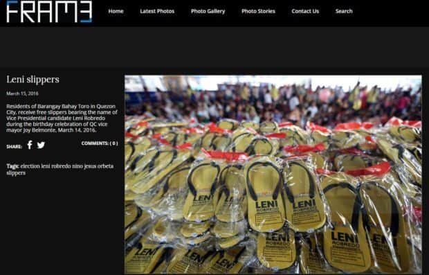 Fact check: Are there unused Leni Robredo slippers found at NPA camp?