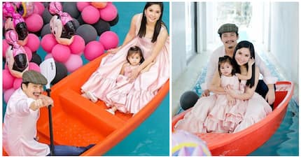 Maria Isabella Padilla with parents in Minnie Mouse-themed pre-birthday shoot