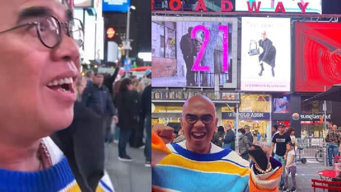 Boy Abunda gets featured in New York's Times Square billboard