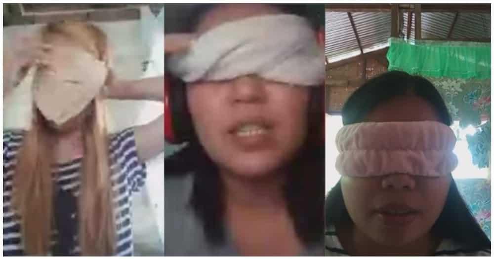 Guro, pinag-blindfold ang kanyang mga estudyante para sa kanilang online recitation