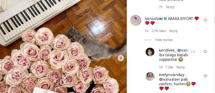 Ivana Alawi, nagkomento sa 50-long stemmed roses na natanggap ni Donnalyn