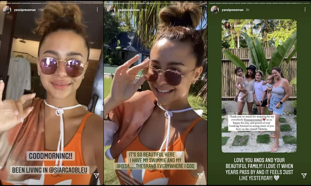 Andi Eigenmann thanks Yassi Pressman for visiting her and the kids in Siargao