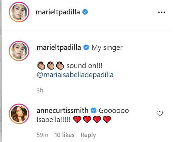 Anne Curtis praises Isabella Padilla's emotional song performance