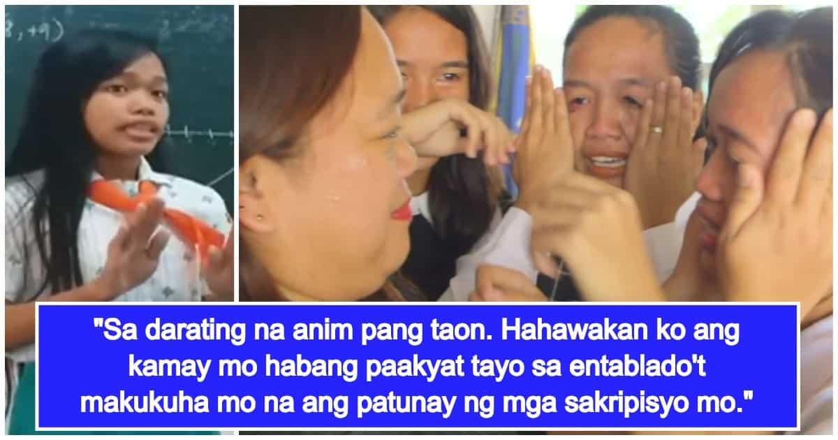 Dalagang nag-viral dahil sa tula para sa inang OFW