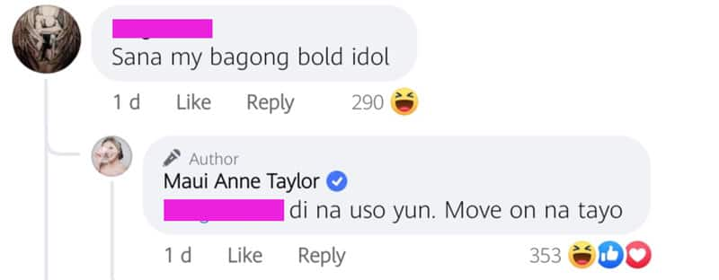 """Maui Taylor slams netizen who asked her for a new """"bold"""""""
