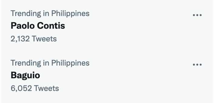 'Baguio', trending sa social media matapos ang tell-all post ni Paolo Contis