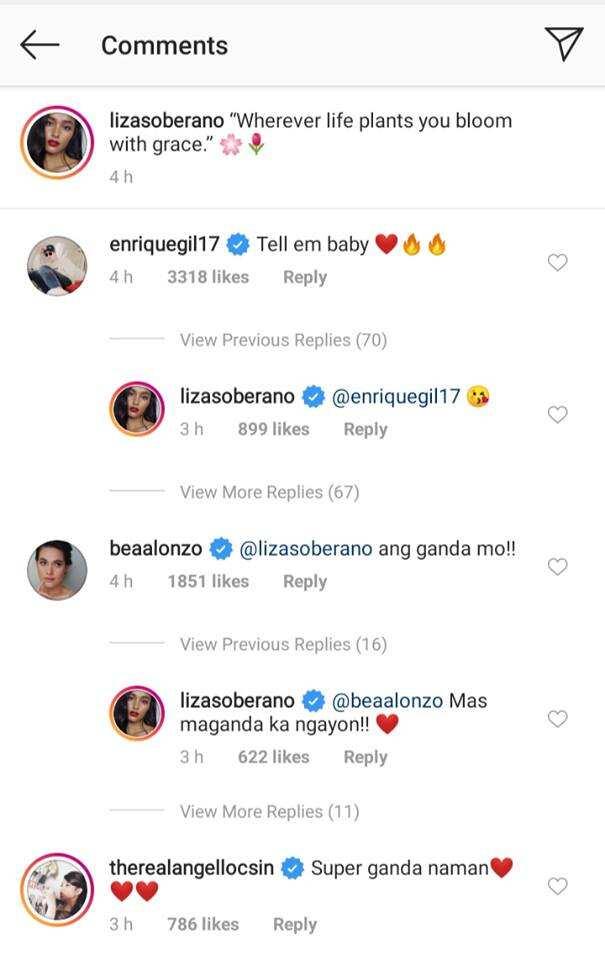 Bea Alonzo, Angelica Panganiban, other celebs react to Liza Soberano's viral photo