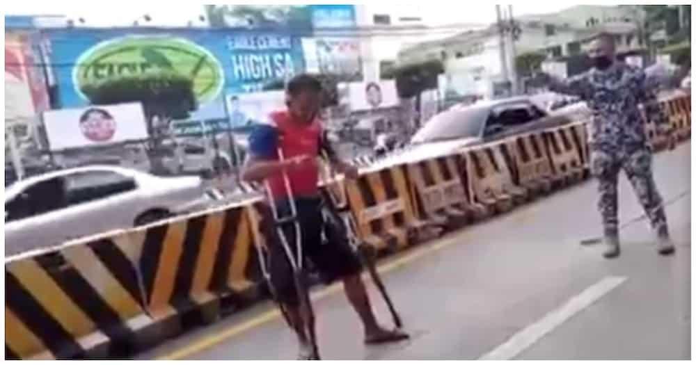 Lalaking nagpapanggap na pilay, bistado nang takbuhan ang nanitang traffic marshal