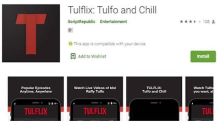 """Netizens, nagtaka sa pagkawala ng """"Tulflix"""" sa Playstore"""