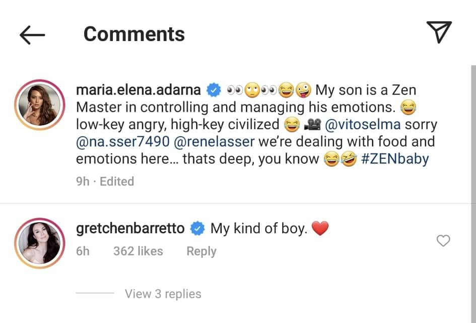 """Gretchen Barretto reacts to Elias Modesto's viral cookie video: """"My kind of boy"""""""
