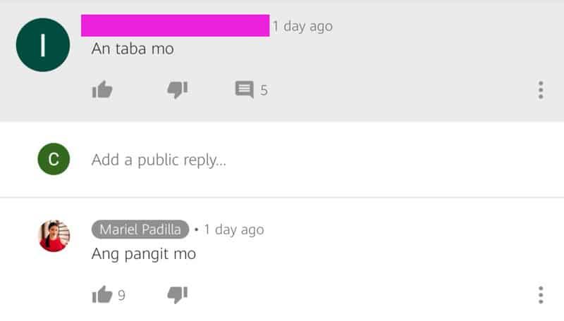 "Mariel Padilla shuts down body-shamer with a nasty ""pangit"" retort"