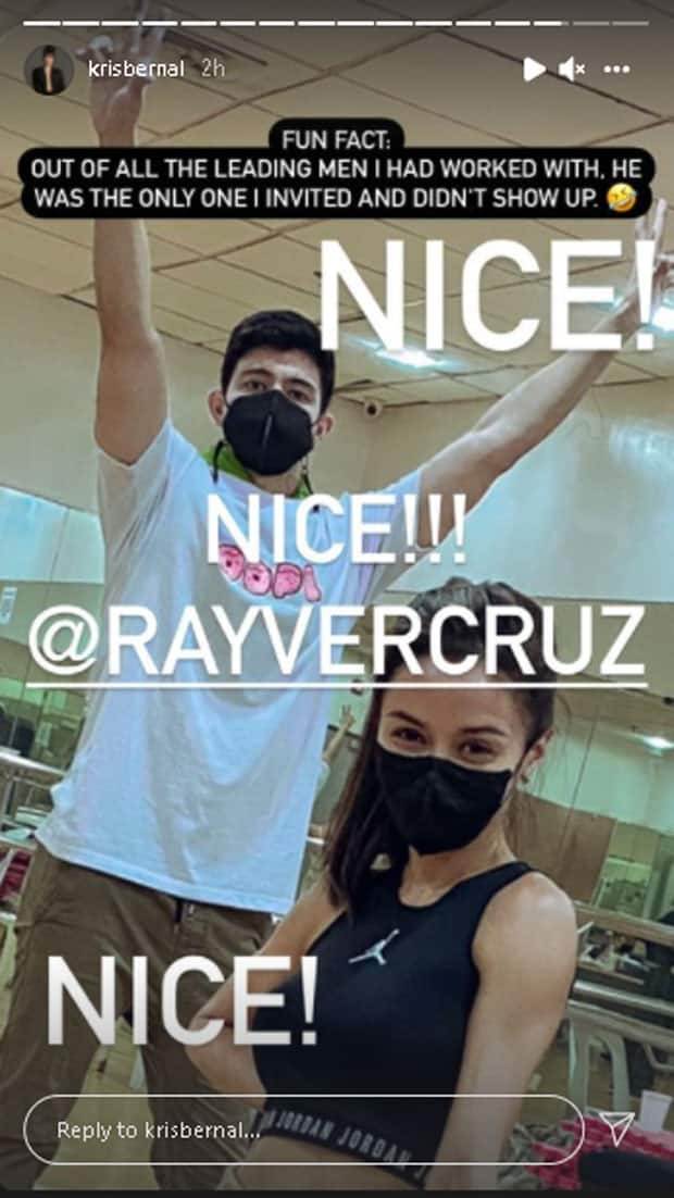 "Kris Bernal, pabirong pinaringgan si Rayver Cruz dahil inimbitahan pero hindi dumalo sa kasal: ""Nice!"""