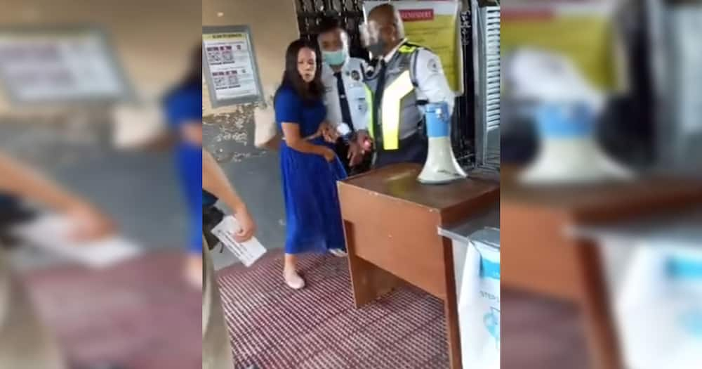 Video of maskless woman going berserk at church entrance after guard refused her entry goes viral