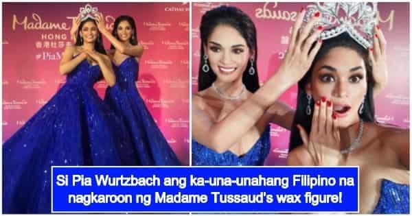 Pia Wurtzbach's wax figure for Madame Tussauds now revealed