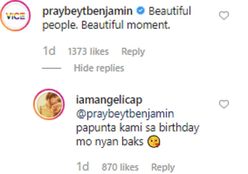 Vice Ganda's heartwarming comment on Angelica Panganiban's post goes viral