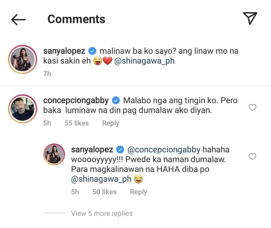 """Netizens, kinilig sa """"magkalinawan"""" comment ni Sanya Lopez kay Gabby Concepcion"""