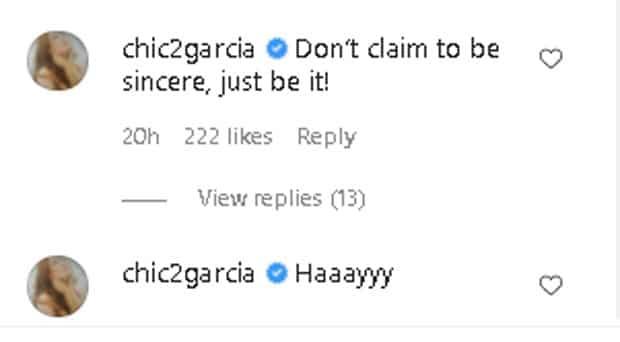 """Jean Garcia, muling binanatan ang manugang: """"Don't claim to be sincere"""""""