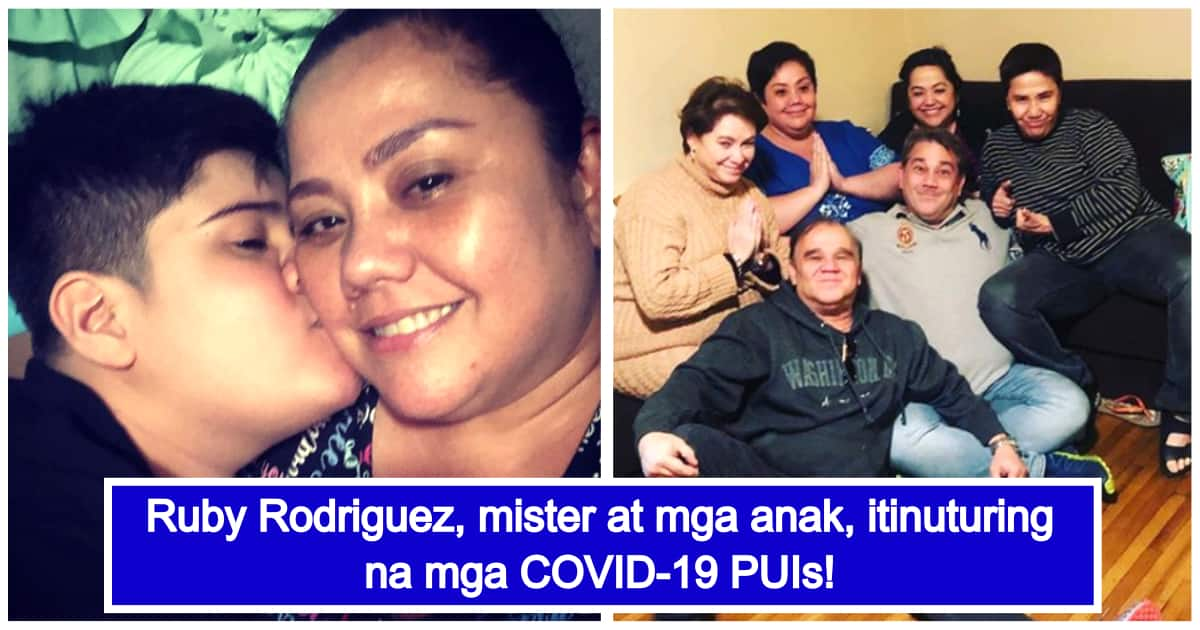 Ruby Rodriguez, husband and kids considered as COVID-19 PUIs