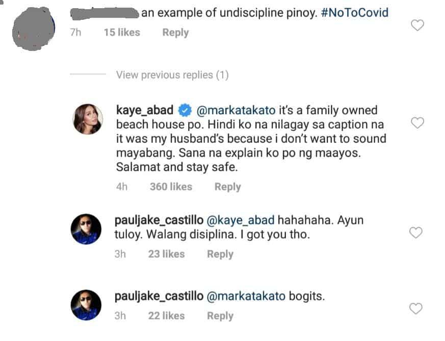 Kaye Abad, sinupalpal ang netizen na nagsabing iresponsable silang mag-asawa
