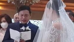 Dave Almarinez, emosyonal, lumuha, habang sinasambit ang marriage vows kay Ara Mina
