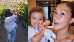 Video ni Solenn Heussaff na tumatakbo habang karga si baby Thylane, viral; view sa Spain, hinangaan