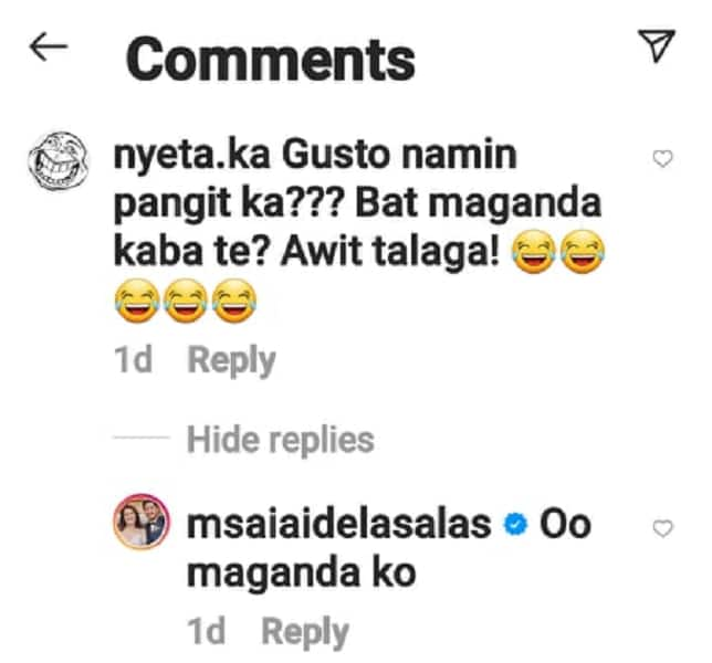 Ai-Ai delas Alas takes swipe at basher who has negative comment on her TikTok video
