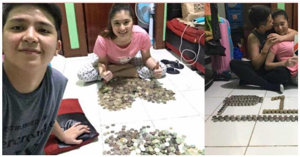 Magkasintahan, viral matapos makapag-ipon ng 1 milyong halaga ng mga barya