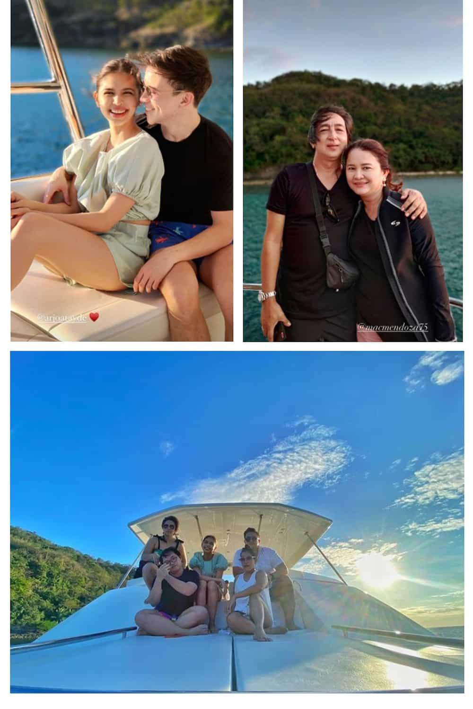 Maine Mendoza, Arjo Atayde go on yacht getaway with family, 'Daddy's Gurl' stars