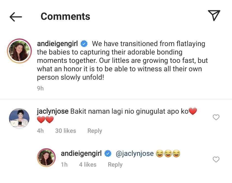 Jaclyn Jose, tinanong kung bakit laging gulat si baby Koa; Andi Eigenmann, nag-react