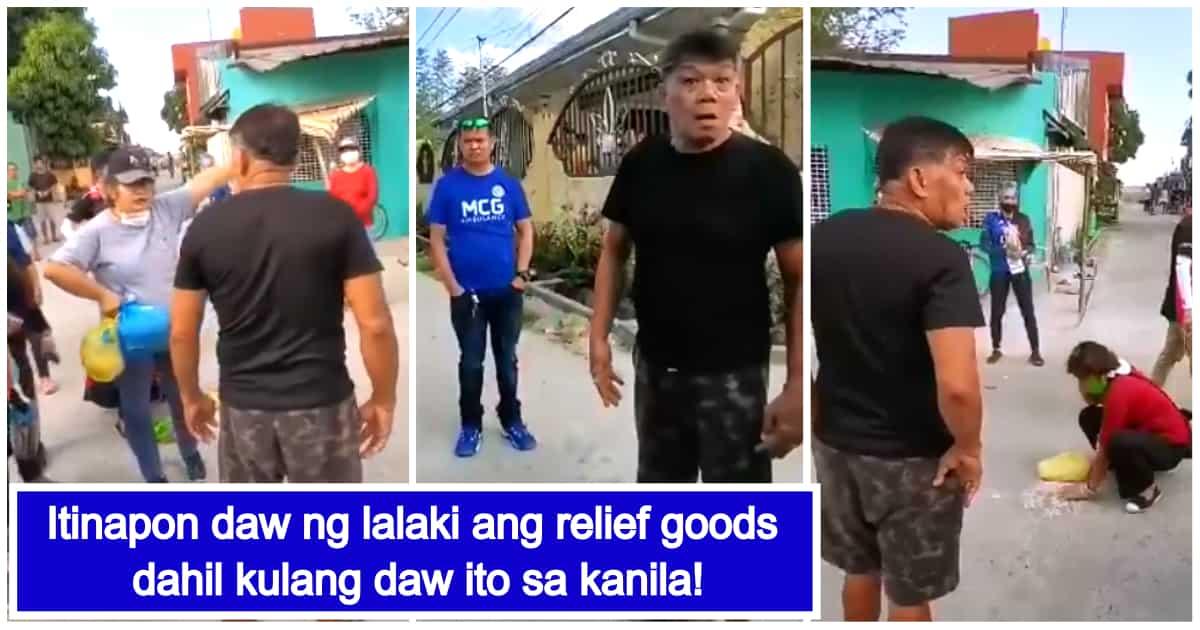 Lalaking nagtapon ng relief goods dahil 'di raw ito sapat, viral