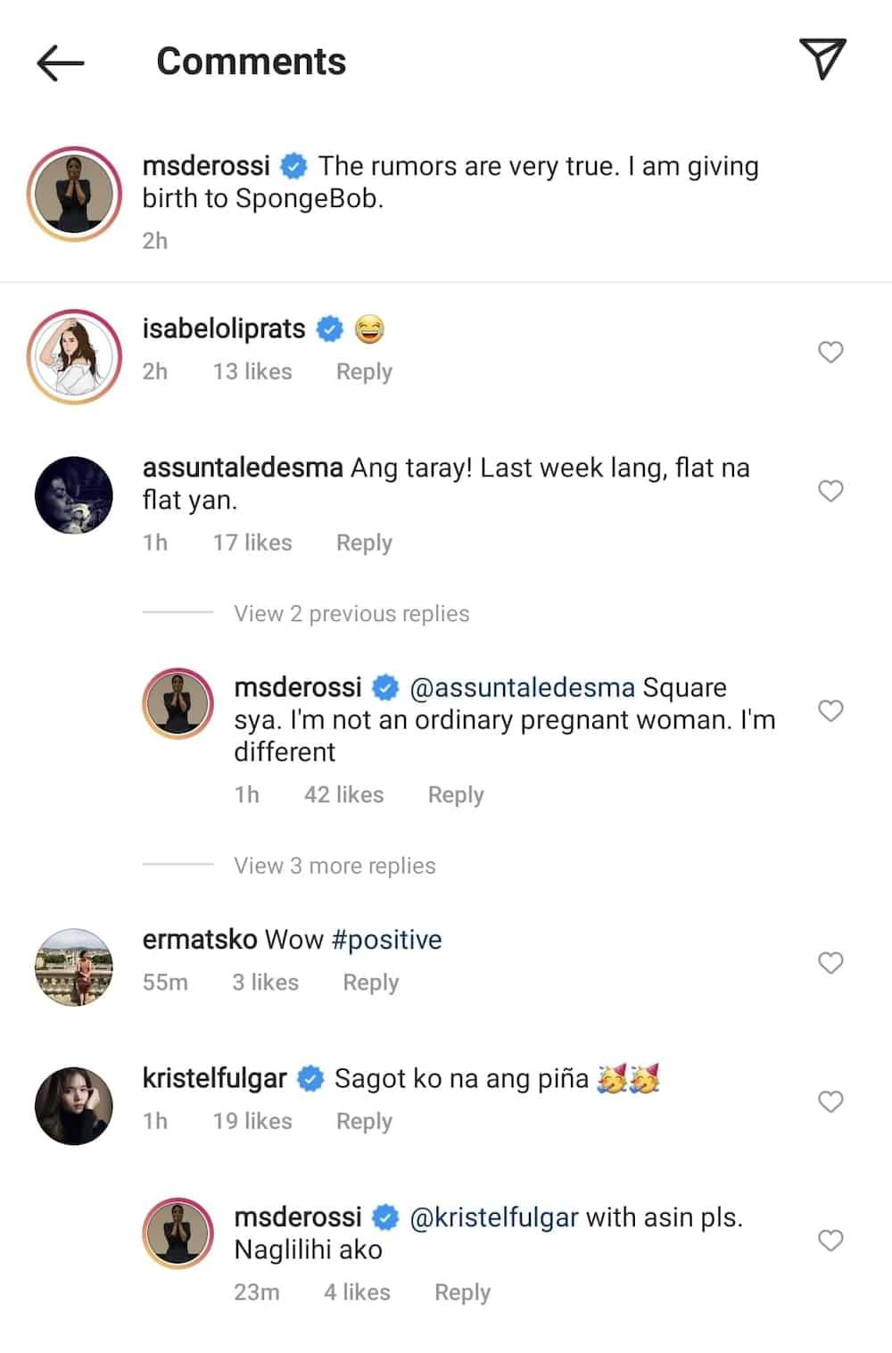 "Alessandra De Rossi posts 'baby bump' photo; says she's giving birth to ""Spongebob"""