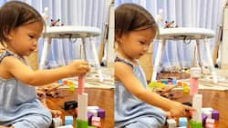 Video of baby Dahlia balancing blocks gains netizens' praises