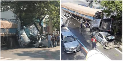 8 vehicles trapped in road accident in Taguig