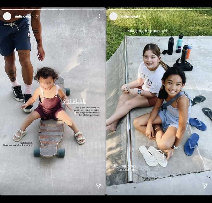 "Andi Eigenmann shares baby Koa's ""first skating experience"" with Philmar Alipayo"