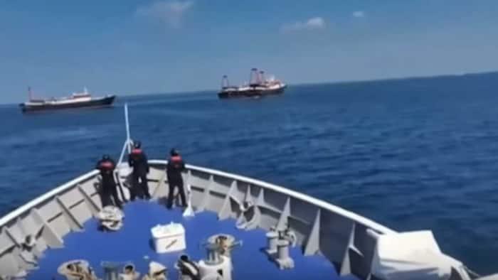 Philippine Coast Guard, matagumpay na naitaboy sa Sabina shoal ang 7 Chinese vessels: Video ng pagtataboy nag-viral