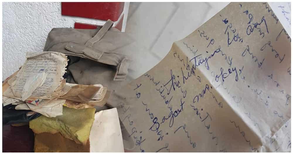 Bag na puno ng love letters, natagpuan ng isang babae sa kisame ng kanilang ancestral house