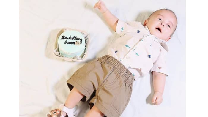 Mark Herras' GF Nicole Donesa shares baby Corky's milestones as he turns 3 months old