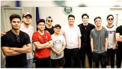 Marco Gumabao, Joseph Marco and other male celebrities play basketball for a cause in Cavite