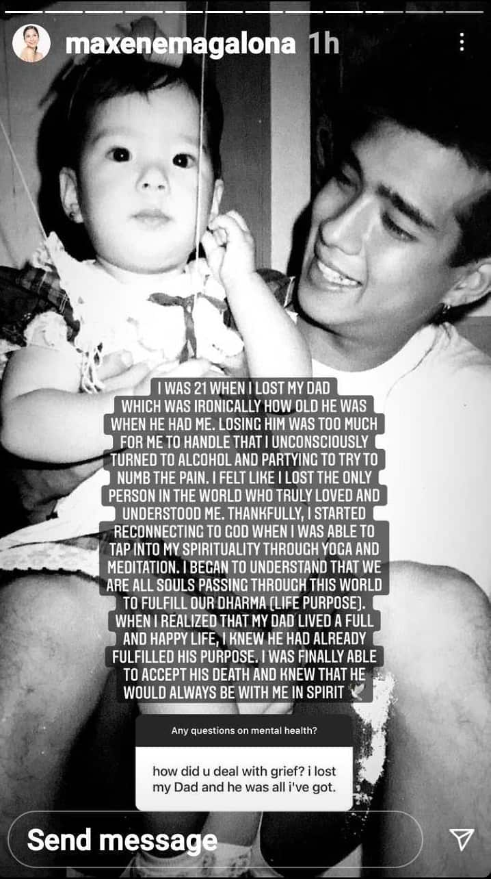 Maxene Magalona admits she turned to alcohol and partying when Francis M. died