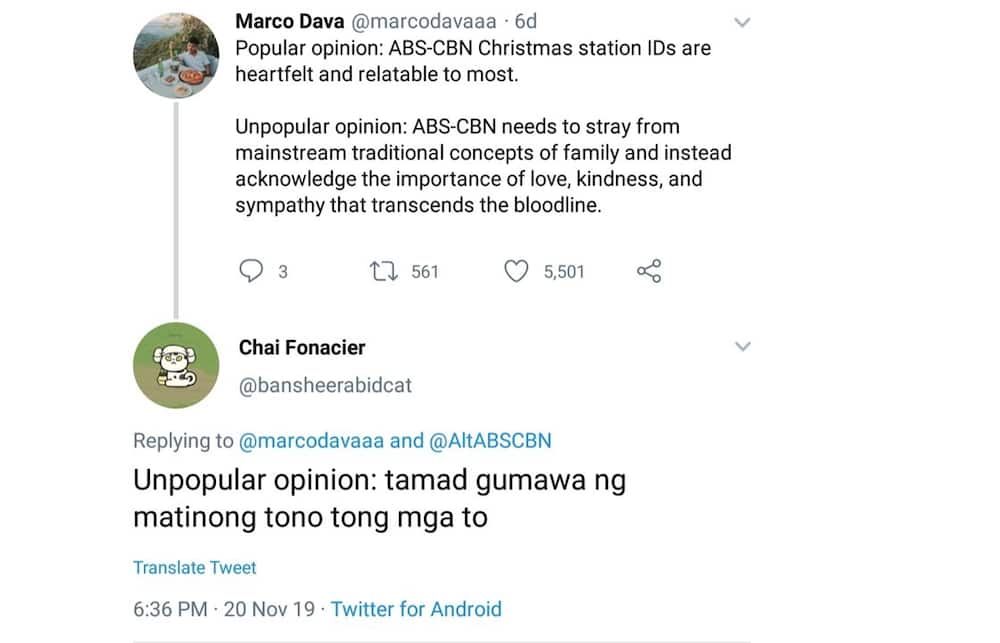 Chai Fonacier takes a swipe at ABS-CBN over the tune of its Christmas station ID